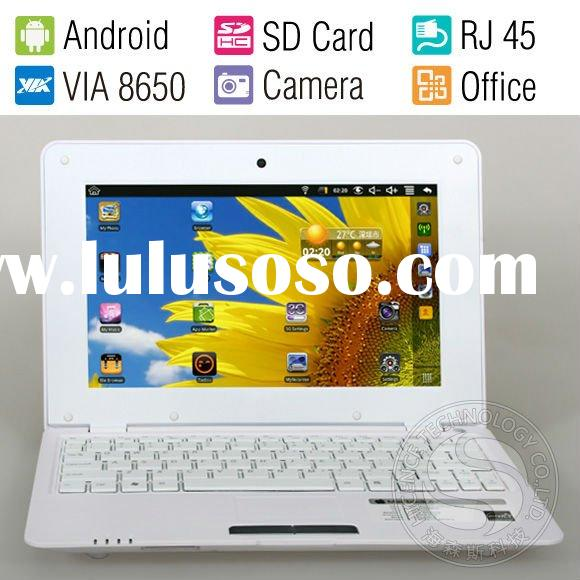 10 Inch Cheap Student Computer Mini Laptop Child Netbook,Android2.2 OS,800MHz CPU,4GB HDD,WiFi,Ether