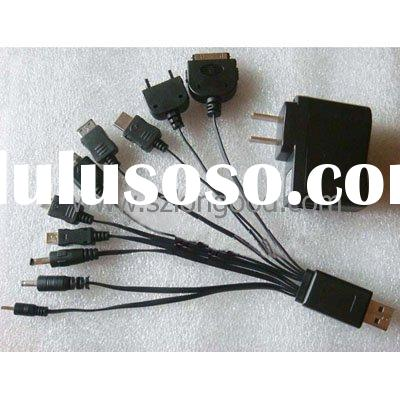10 in 1 USB Charger Cable for Cell Phone iPod PSP iPhone 3G