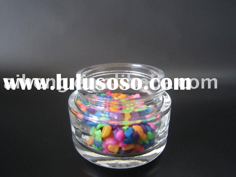 10ml small round glass liquid foundation jar
