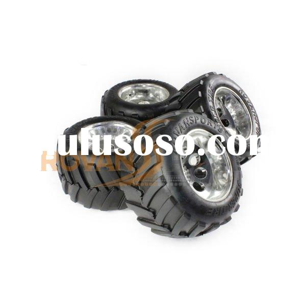 1/5 scale RC car wheel and tyres set with alloy hub