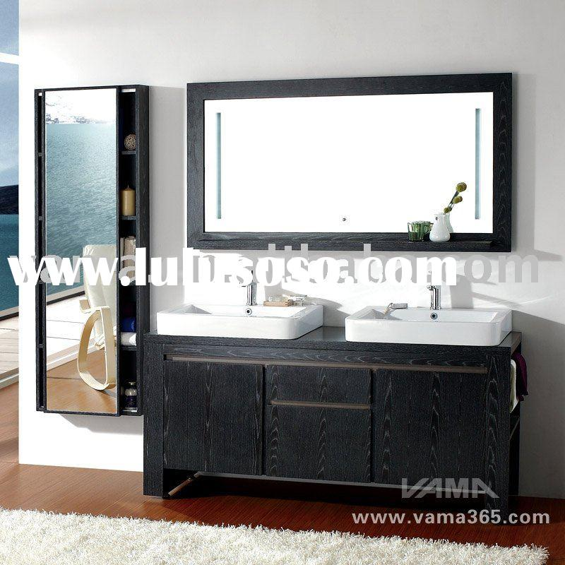2010 New solid wood bath cabinet vanity kit/modern bathroom furniture/wood vanity cabinet V-12022