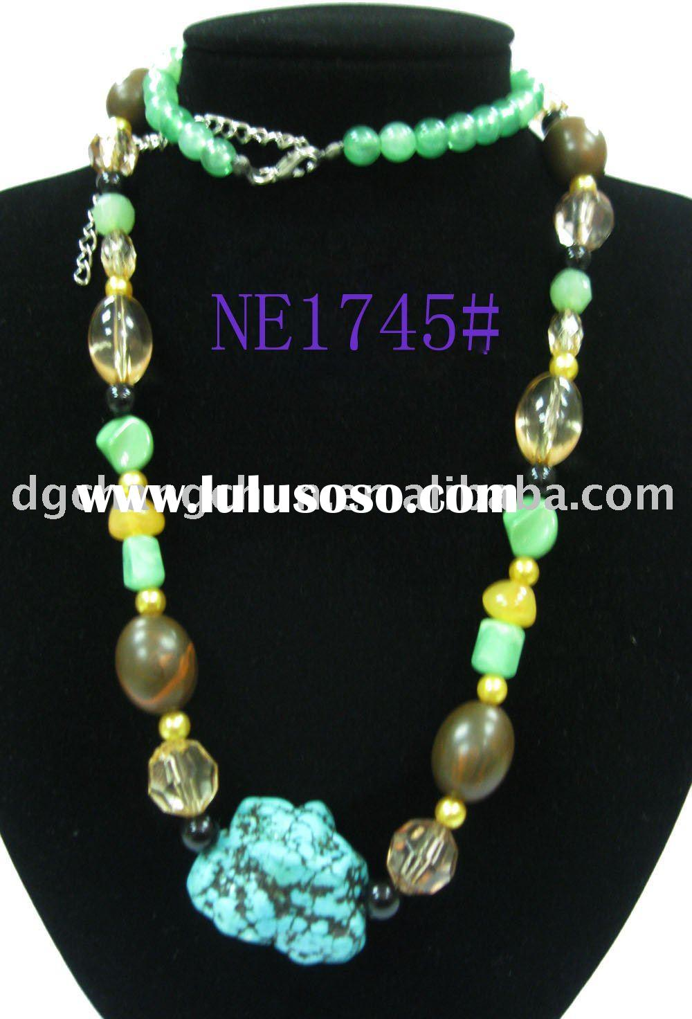 2010 fashion Vintage turquoise beads necklace jewelry