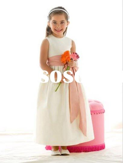 2011 Angle baby flower girl dress TDG-4017