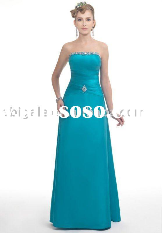 2011 Custom-made Colorful Beaded Sweatheart evening gown fabrics
