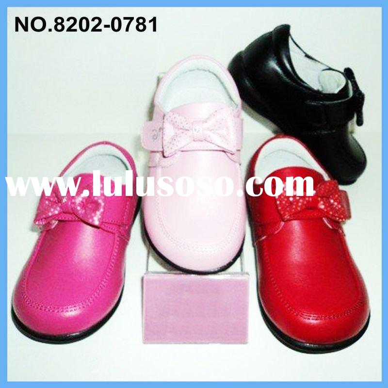 2011 Girl dress shoes white flower girls party shoes