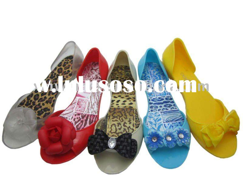 2011 New Summer Lady PVC Jelly Flower Sandal Shoes