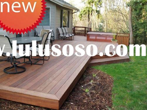 Anti skidding outdoor decking wood flooring merbau decking for Garden decking for sale