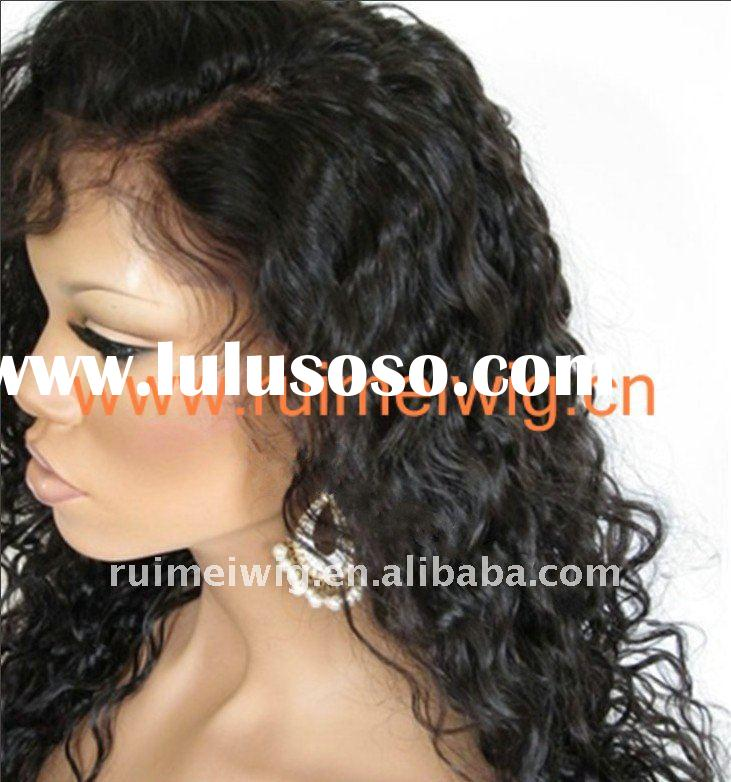 2011 Ruimei deep curl human hair Lace front wig