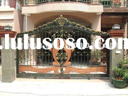 2011 Top-selling hand forged classical sliding iron gate