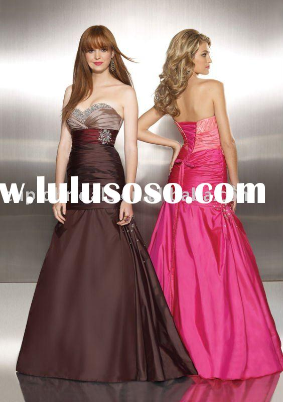 2011 Tri Color taffeta mermaid formal dress women with beading CBE10330