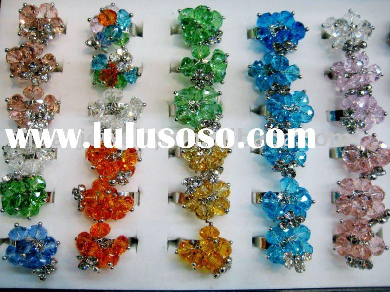 2011 Wholesale cheap crystal ring jewellery