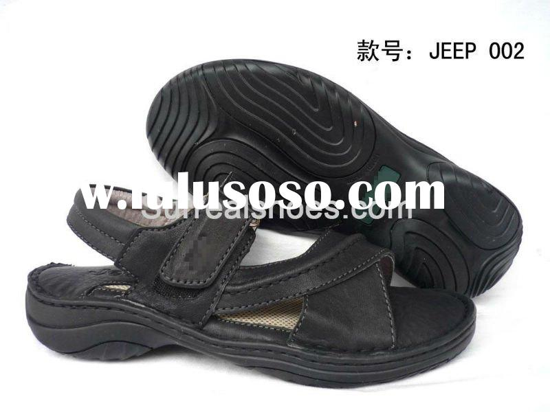 2011 brand name men leather sandals