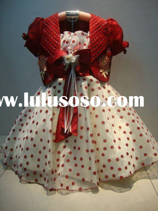 2011 latest fabric flower girl dress