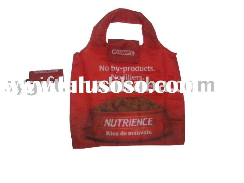 2011 recycle promotional zipper nylon tote bag