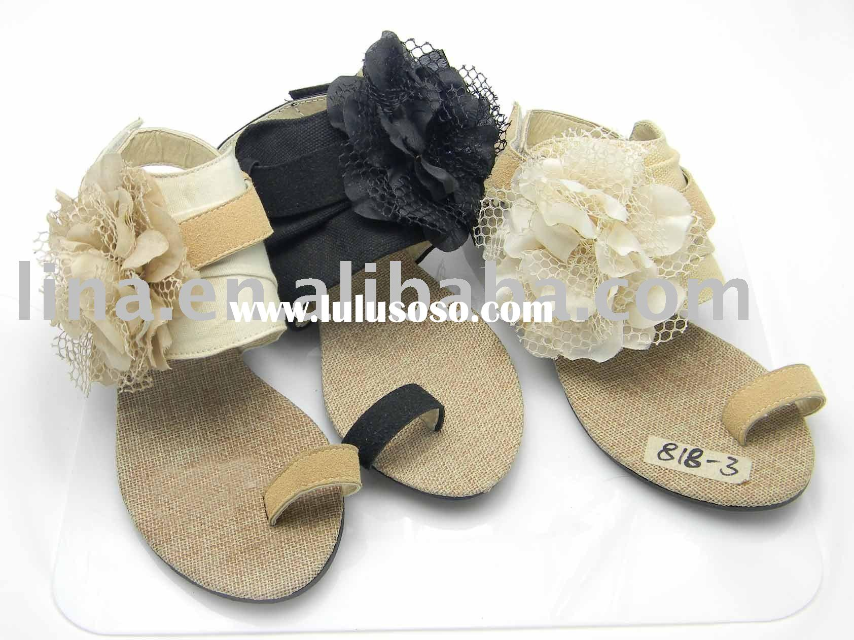 2011 the newest style ladies' leather shoes sandals/2011 ladies flat sandals/2011 ladies san