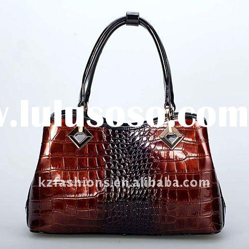 2012 Brown Crock real leather handbag kz1012