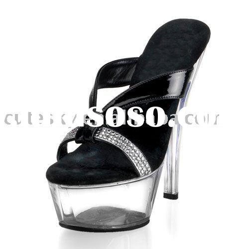 2012 Crystal platform fashion high heel sandals
