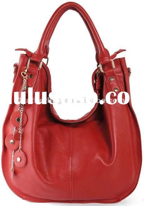 2012 Red Large Leather Women Bags Hot Factory