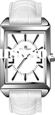 2012 leather band stainless steel case fancy lady watch