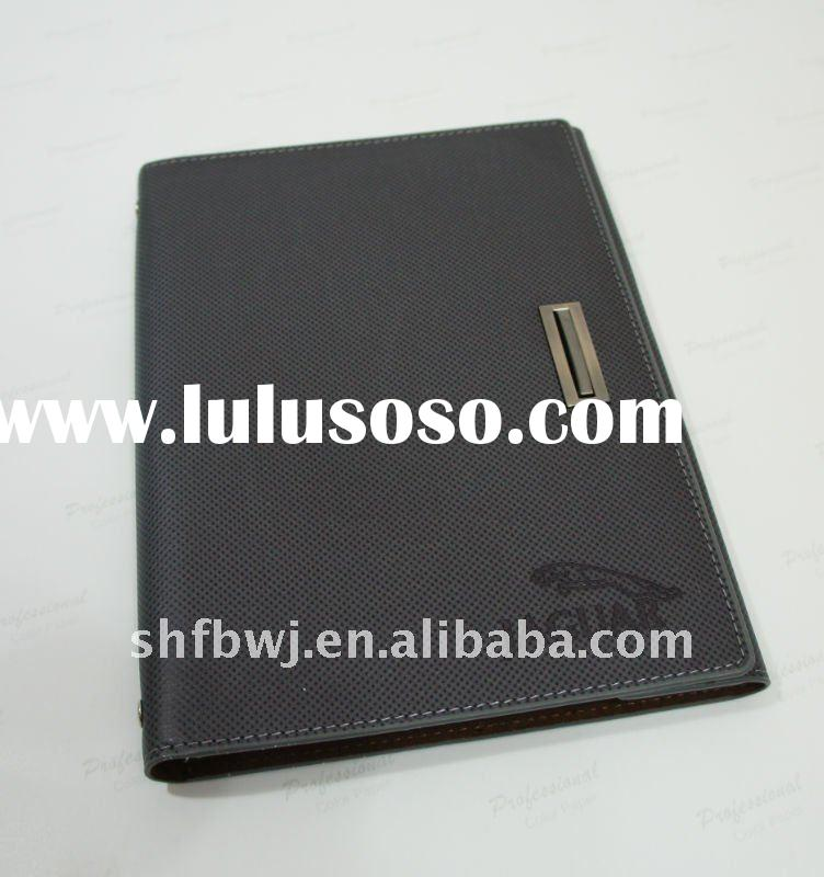2012 leather cover spiral notebook