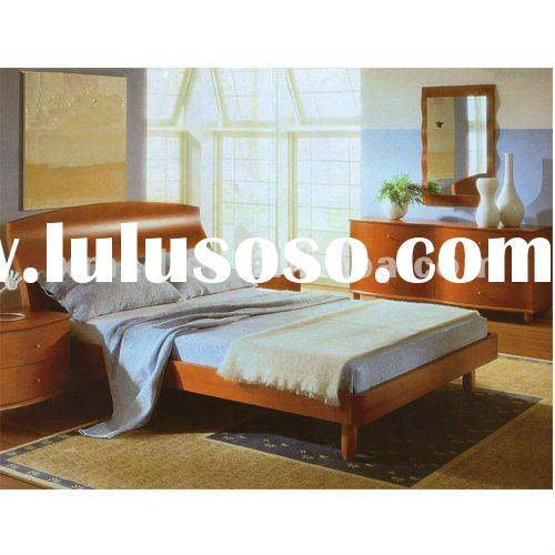 2012 modern cheap solid wood bedroom furniture