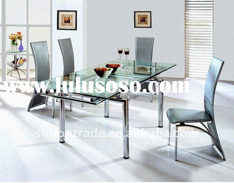2012 modern home furniture dining table with steel tube DA628