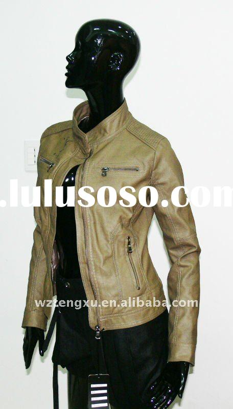 2012 spring ladies leather jackets