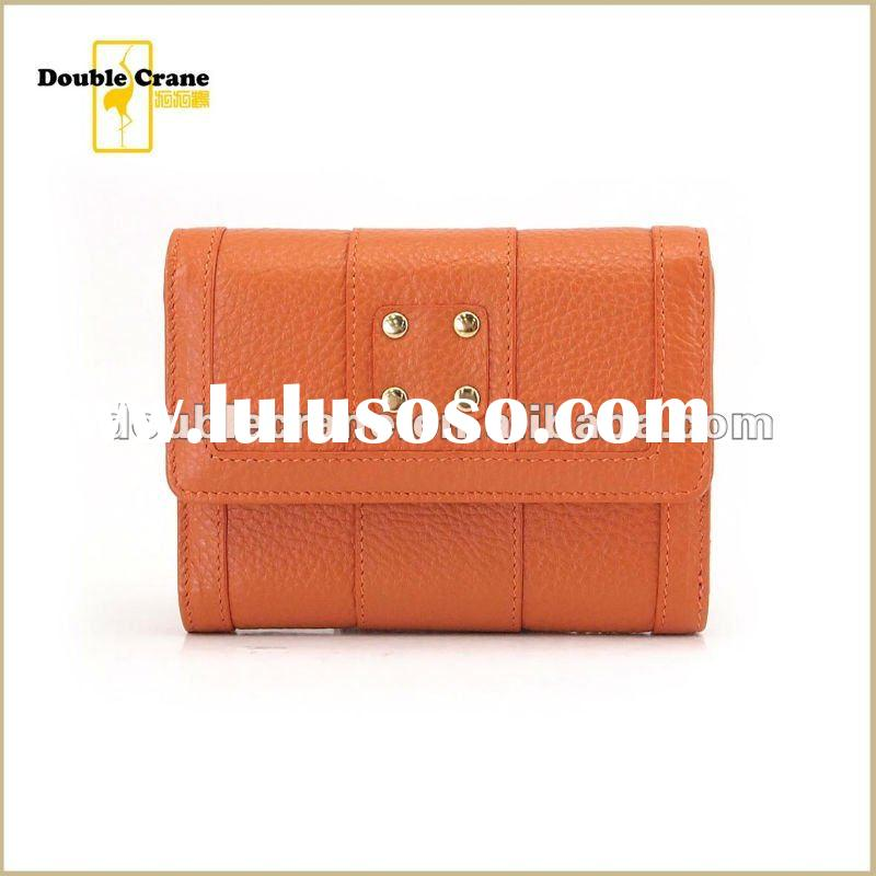 2012 spring/summer Ladies Real Leather wallet/purse with Studs decoration
