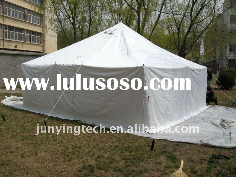 25 square meter camping tent, party tent, sun shelter and refugee tent, canvas tent