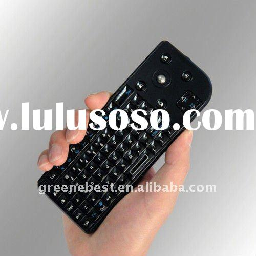 2.4GHz RF mini wireless keyboard with laser pointer&backlight&laser point&trackball mous