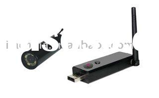 2.4GHz Wireless Inspection hidden Camera dvr with USB Receiver +Small camera d with LED night vision