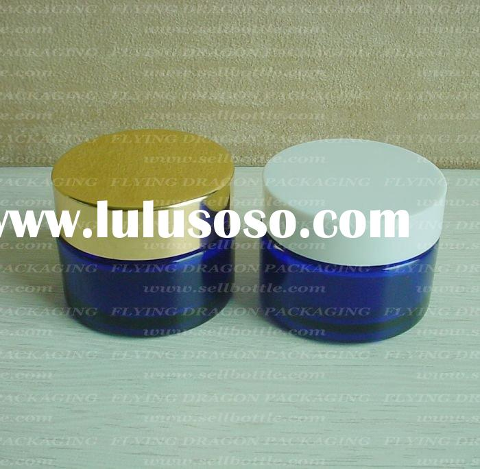 30ml Blue cream glass jar with lid, glass cosmetic jar, cosmetic glass jar