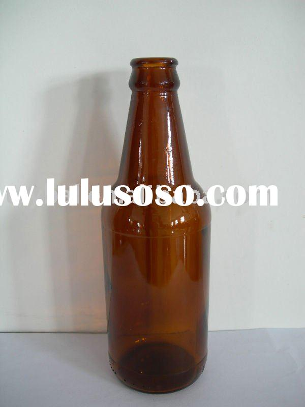 330ml amber glass beer bottles