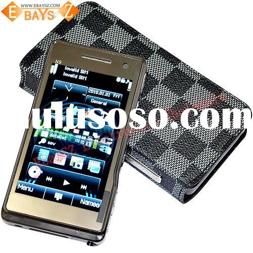 3.6-inch Touch Dual SIM JAVA WINDOWS Smart Full Keyboard Leather Case Business Mobile Phone N9