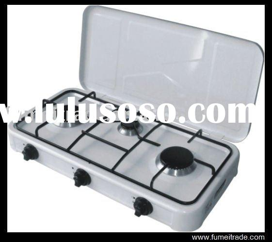 3 burner table top gas cooker , european style gas stove