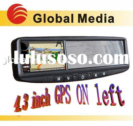 4.3 inch car gps rearview mirror for toyota ford parking sensor rearview mirror car camera