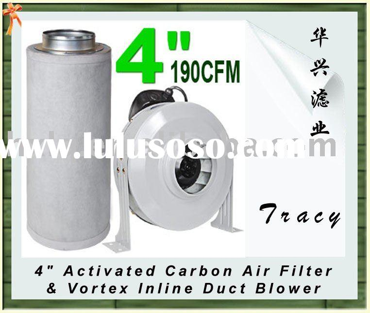 4 Quot Duct : Quot activated carbon air filter vortex inline duct blower