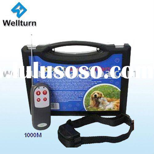 4in1 vibration+static+3 level whistle +led electronic remote control pet dog training collar, static