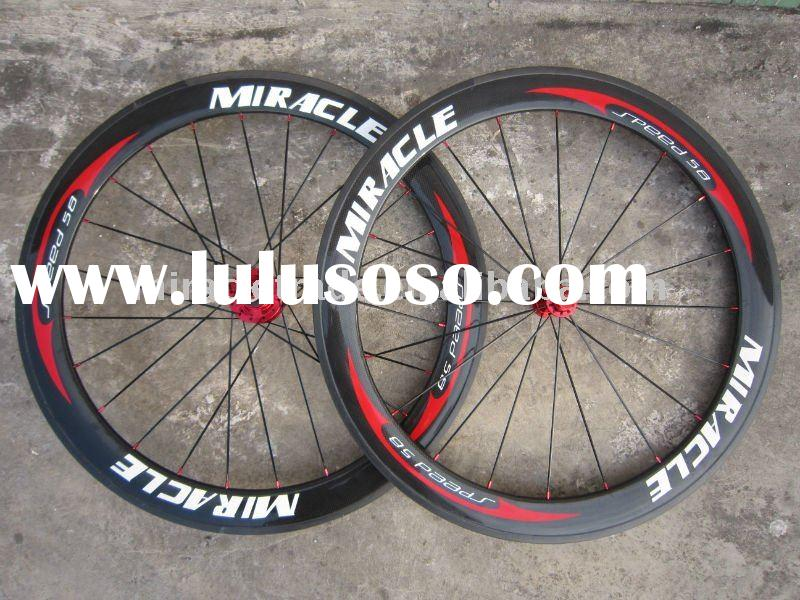 58mm road clincher wheelset,miracle full carbon wheels, wheelset road