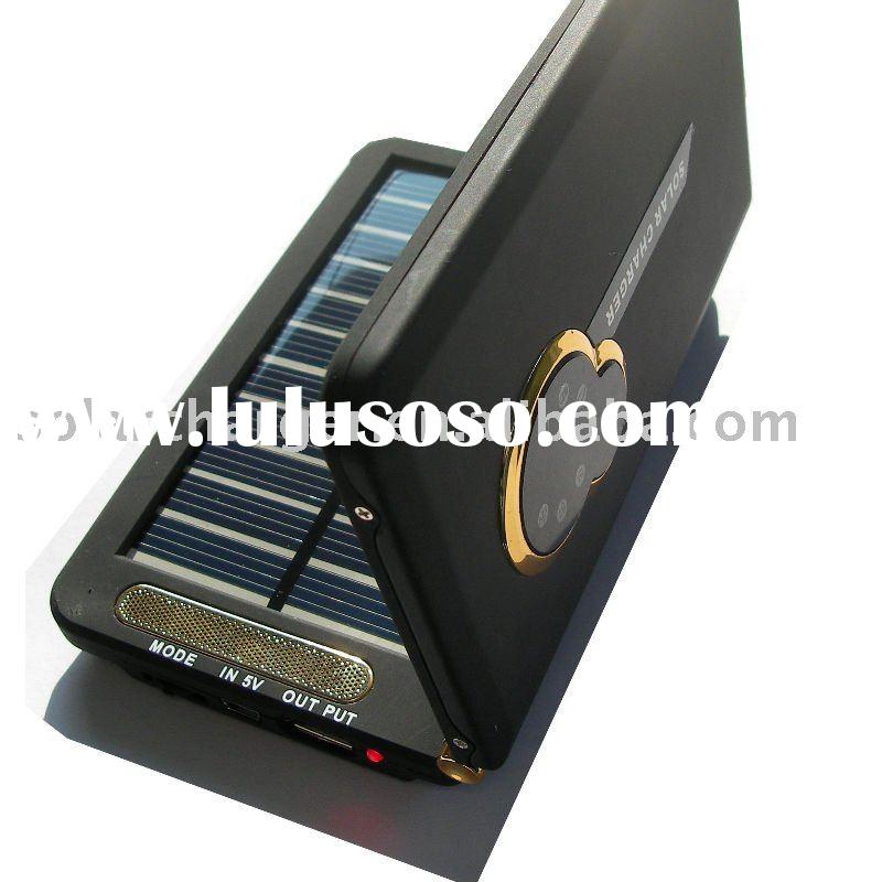 5.5V/9V/12V Output 3000mah Polymer-li Portable Solar Mobilephone Charger for Iphone/Ipod, Blackberry