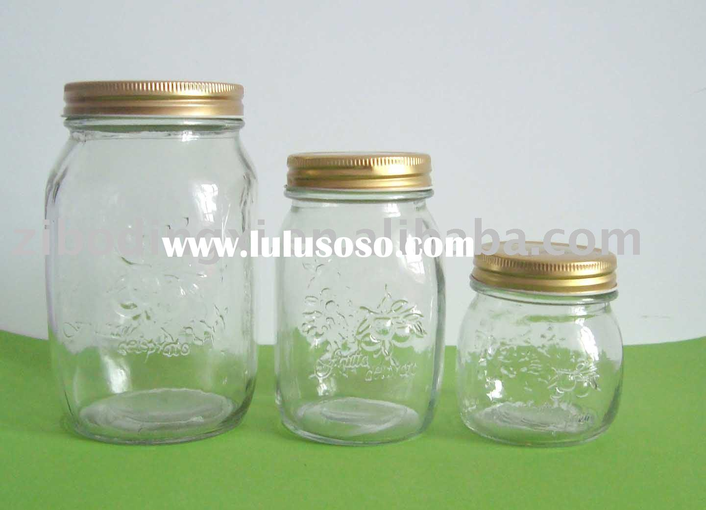 5pcs airtight clear glass jam jar