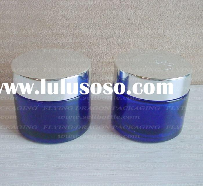 60ml Blue cream glass jar with lid, cosmetic jar, cosmetic glass jar
