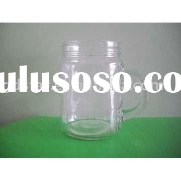 7.5*10.5cm glass jam jar with handle
