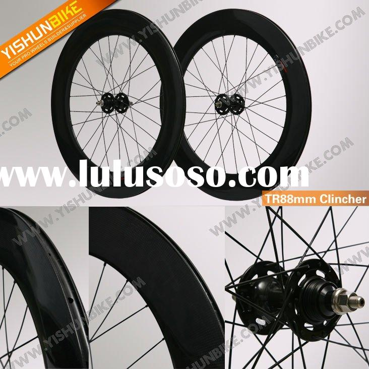88mm carbon fixed gear wheels, carbon track wheel