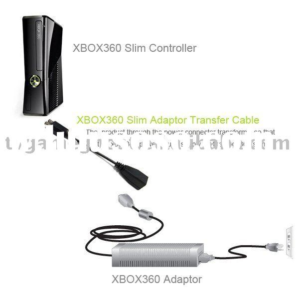 Ac Adapter Power supply convert cable for xbox 360 slim