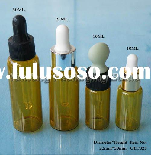 Amber Glass Dropper Bottles for essential oil, serum use