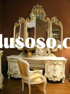 Antique high quality woodcarving European style dresser set
