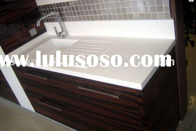 BVT-023 Modern design Corian acrylic solid surface vanity