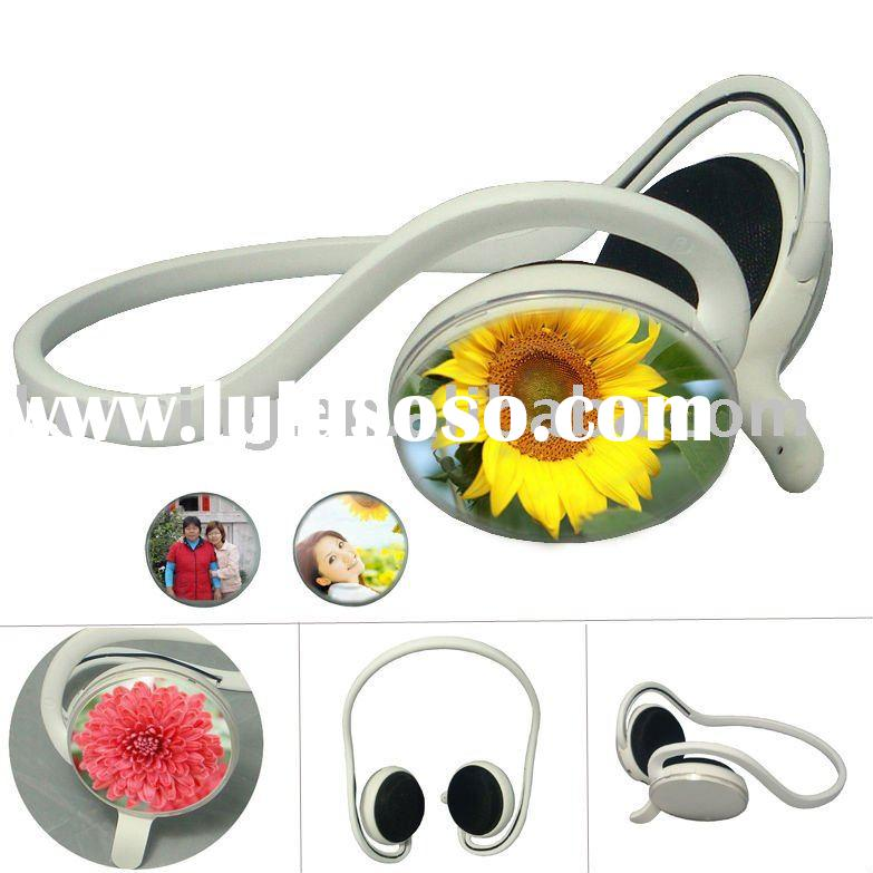 Back-hang style Stereo BluetoothR 1.2 Headset with Invisible Microphone