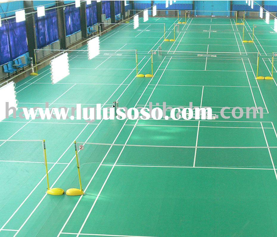Professional badminton floor badminton mat sports flooring for Cost of sport court